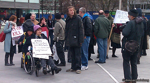 DPAC protest against ATOS, Jan 2011