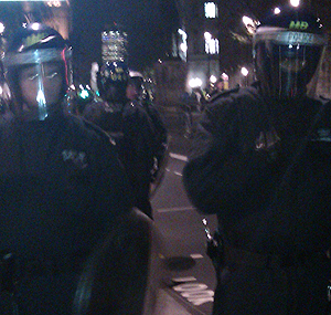 Policing the student demonstrations
