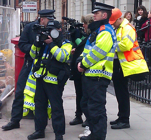 Police surveillance at the student march April 2012