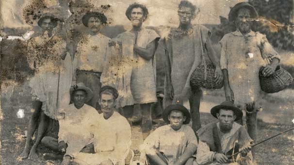 White sugar slaves in the fields of the Barbados