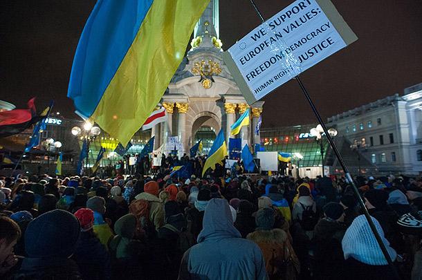 Euromaidan protest, Kyiv, Ukraine, Date 30 November 2013 ©Mstyslav Chernov